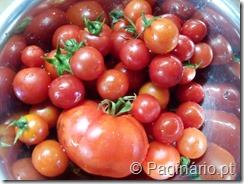 Taça com tomate cereja